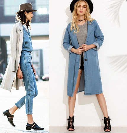 Double Denim With Trench Coats