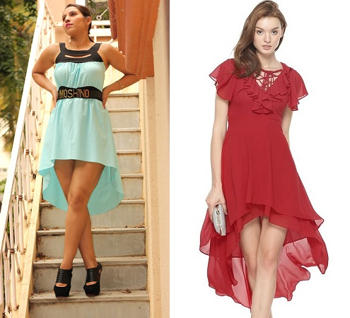 Dresses With Front Hems