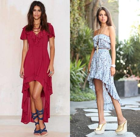 Footwear For Asymmetrical Dresses