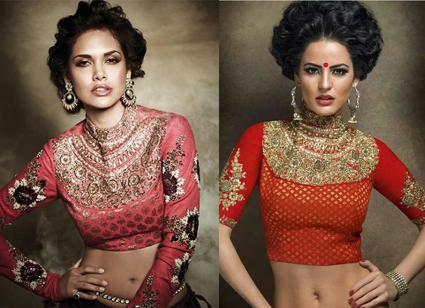 Front Neck Jewelled Blouse Design