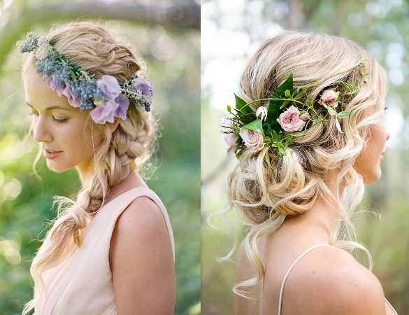 Hairstyle With Flowers