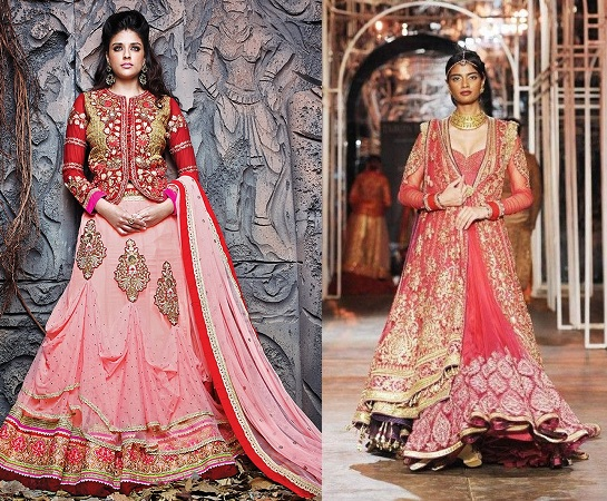 Jacket style lehenga sari