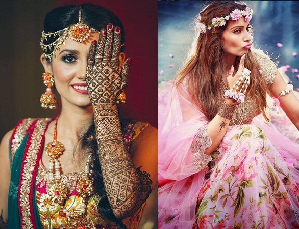 Jewelry and Makeup For Mehndi Ceremony