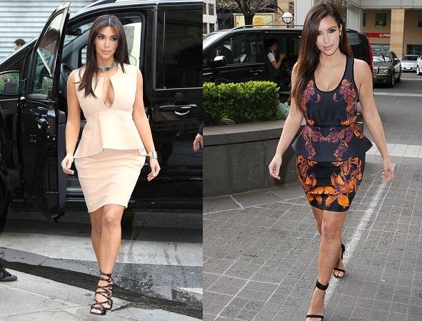 Kim Kardashian In Peplum Dress