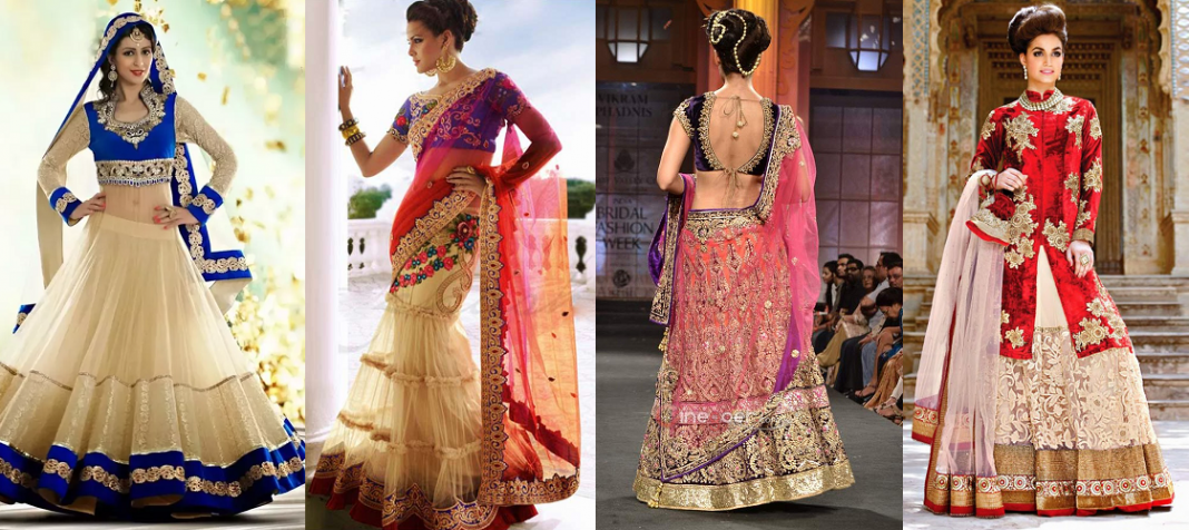 Lehenga Sarees with Blouse Designs