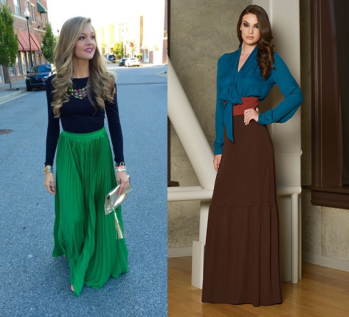 Long Skirts With Long Sleeves Top