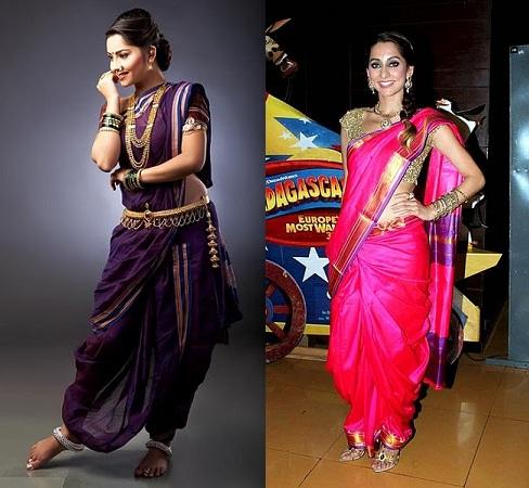 Maharashtrian-Saree-Draping-Styles