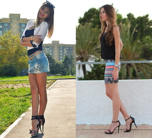 Miniskirt With Heels