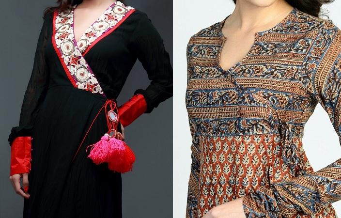 Neckline For Angrakha Style Kurti
