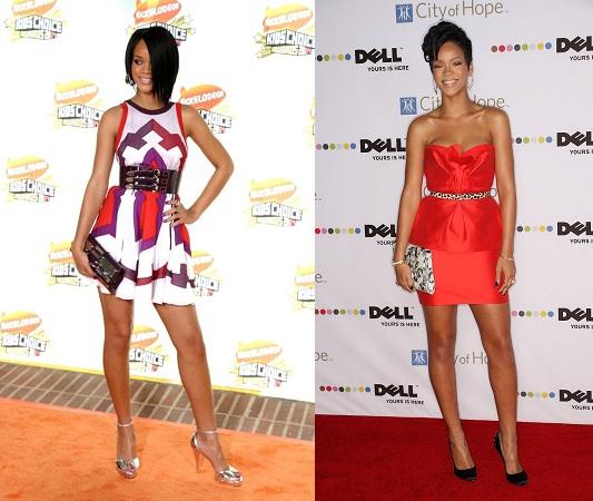 Rihanna In Peplum Dress
