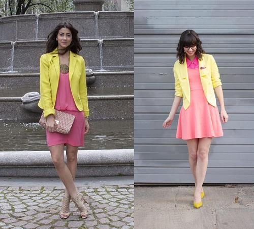 Salmon Pink With Yellow Jacket
