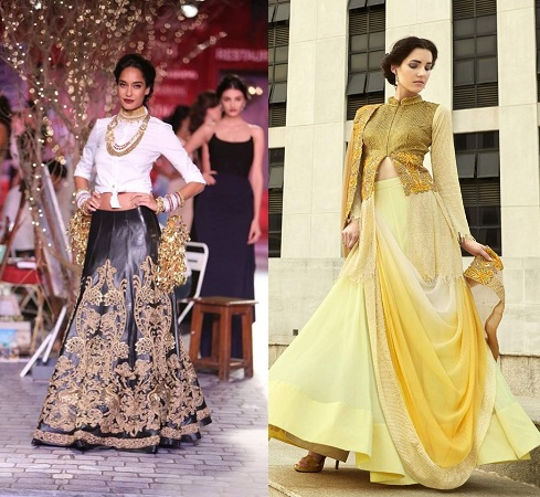 Shirt Style Blouses For Lehengas