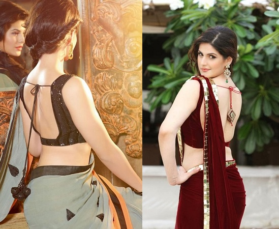 Simple backless blouses
