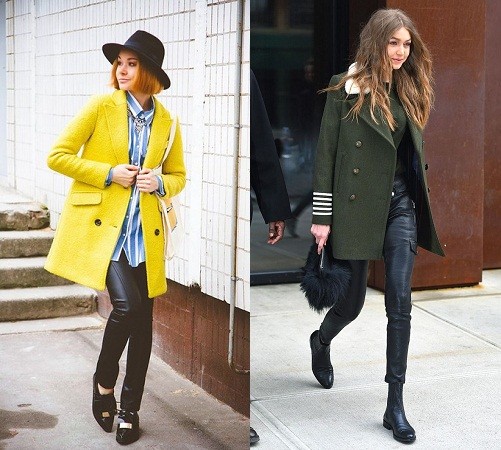 Statement Long Coats And Leather Pants