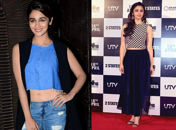 Alia Bhatt In Crop Top