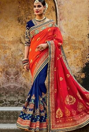 Bridal Chiffon Saree