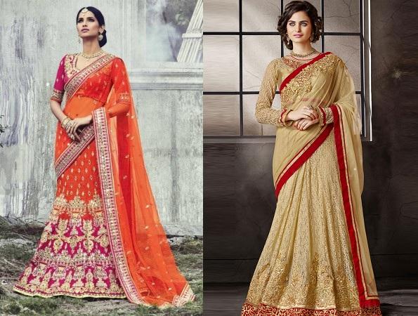 Bridal Lehenga Style Saree