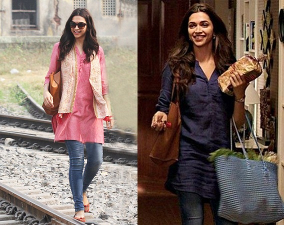 Deepika Padukone in kurti with jeans