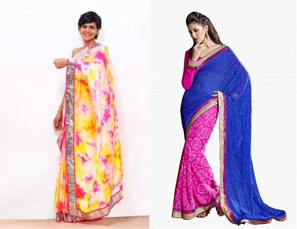 Dye Prints And Bandhani Sarees