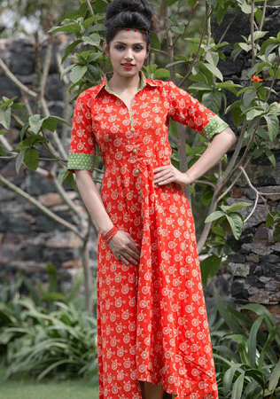 Handloom Long Length Kurtis