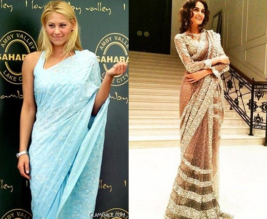 Indian Designer Saris In Western Way