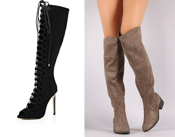 Knee-Length Black City Boots