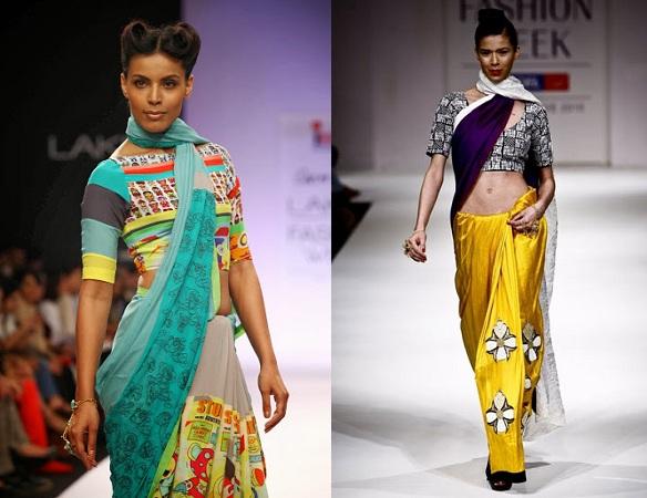 Neck Wrap Saree Draping Style