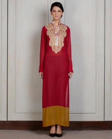 Resham Embroidered Kurti