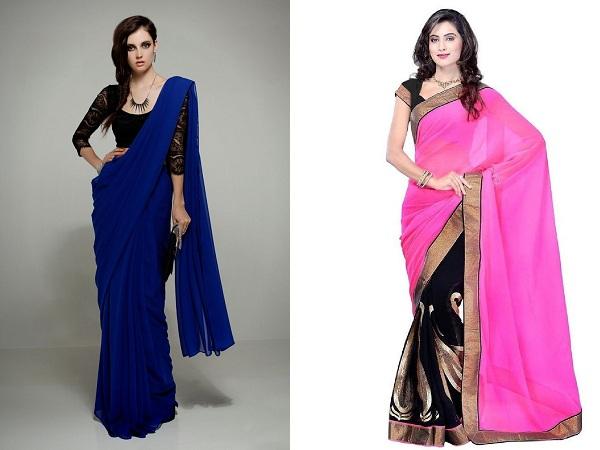 Saree Draping Style For Chiffon Saree