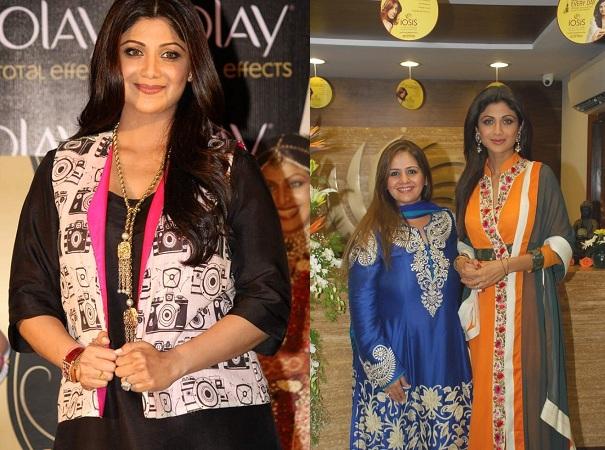 Shilpa Shetty Kundra in full sleeved kurti