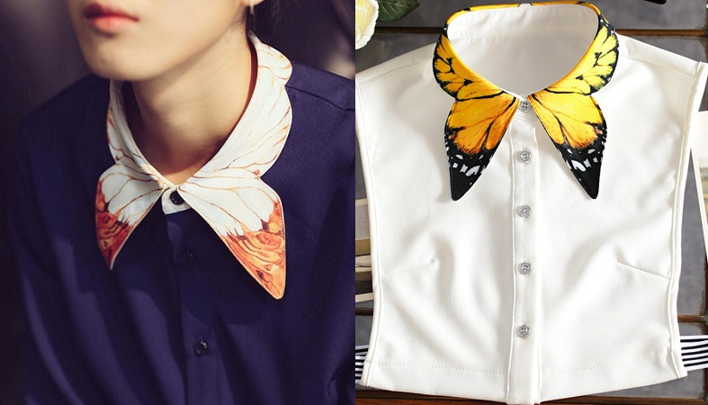Collar Butterfly Wings Design