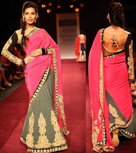 Designer Lehenga Saree Blouse