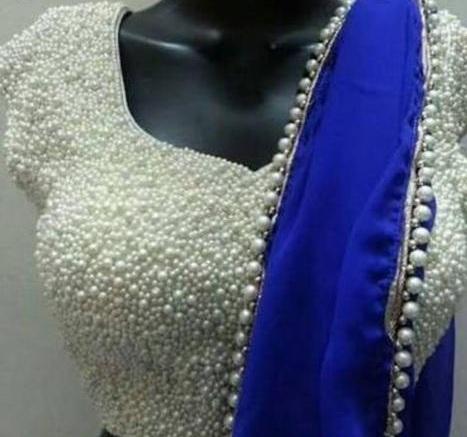 Pearl Embellished Designer Blouse