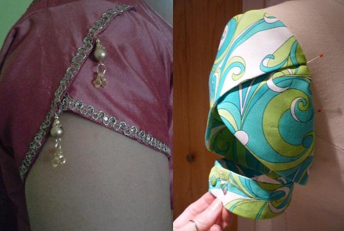 Petal sleeve Saree Blouse