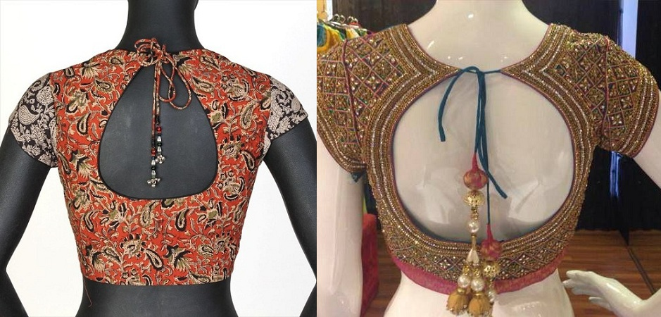 Pot Neck Blouse Designs