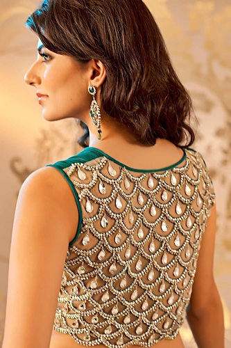 Stone Embellished at the back of blouse