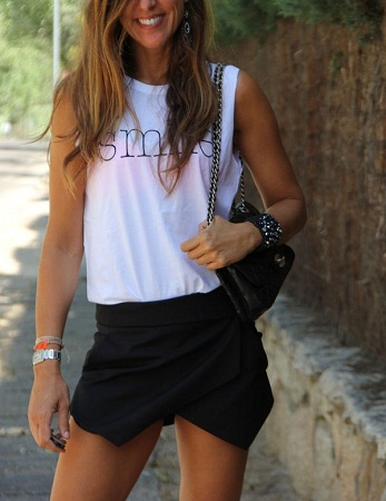Asymmetrical Hemline Shirt T-shirt