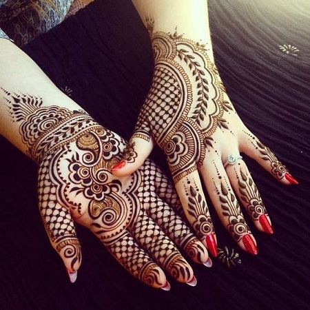Beautiful Net Mehendi Design For Front