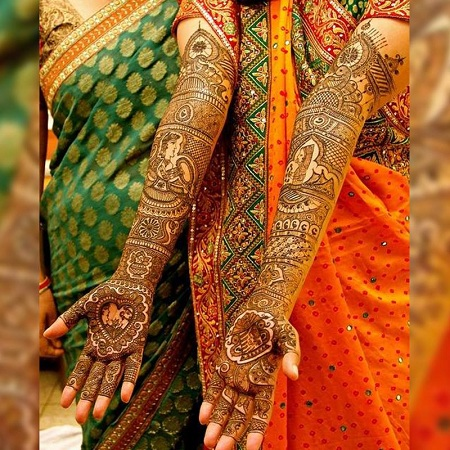 Beautiful Punjabi Mehendi Hands