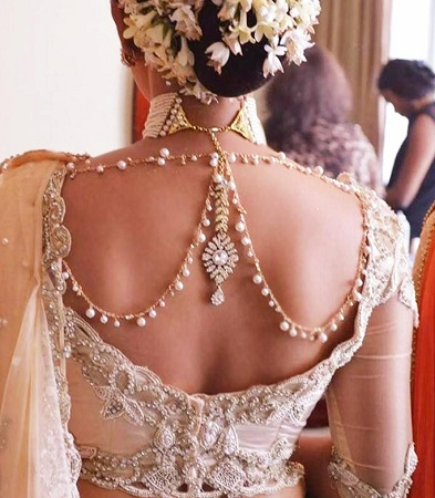 Bejeweled Back Neck Blouse