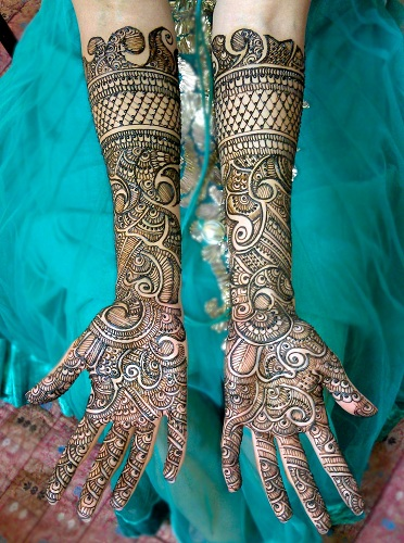 Bridal Arabic Mehendi Design