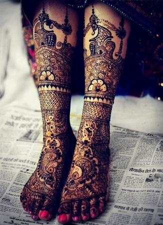Bridal Mehendi Feet