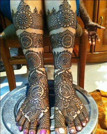 Bridal Mehendi For Feet