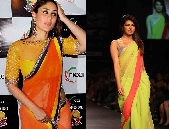 Celebs In Sheer Sarees