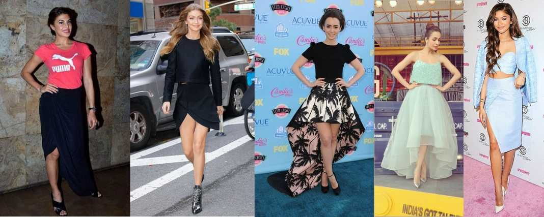Celebs with Asymmetrical Skirts