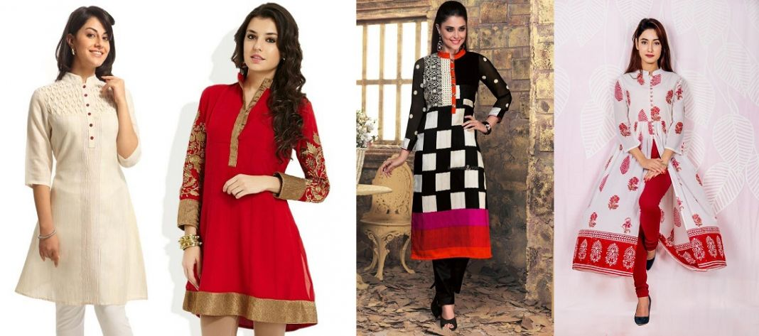 Closed Collar Kurtis