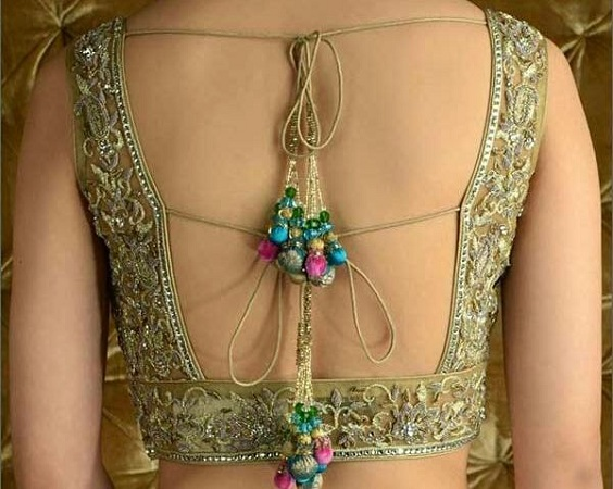 Deep Rectangular Cut Saree Blouse