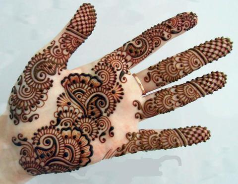 Floral Mehendi Design For Diwali