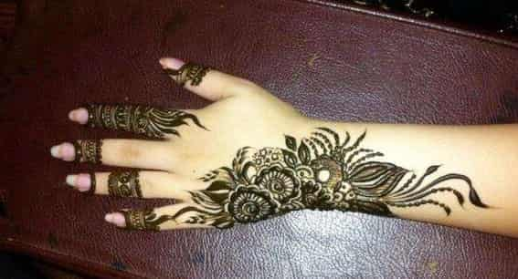 Floral Mehendi Design For Back