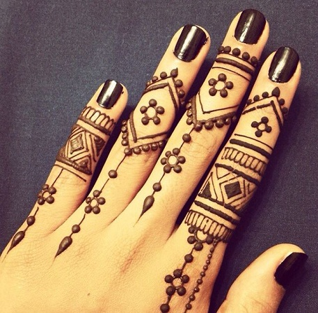 Moroccona Mehendi Design For Fingers